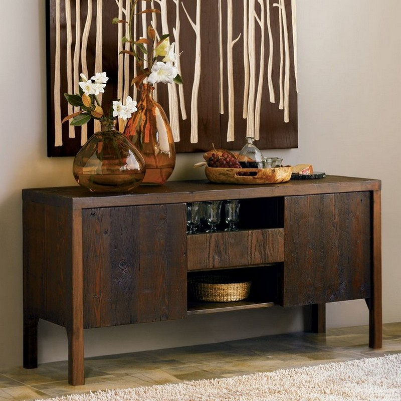 A Rustic Sideboard In The Dining Room Conceals Some Items You Donu0027t Like To  Show.