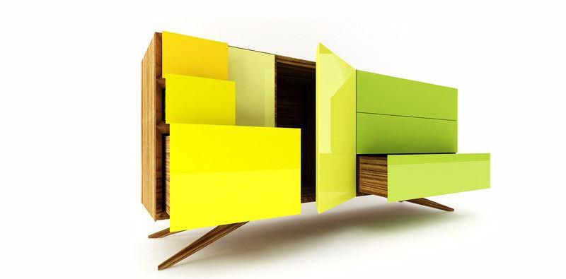 Florescent  design trends Sideboard Design Trends For This Fall/Winter Sideboard Design Trends For This FallWinter 14