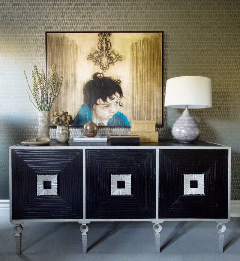 Black Always  design trends Sideboard Design Trends For This Fall/Winter Sideboard Design Trends For This FallWinter 3