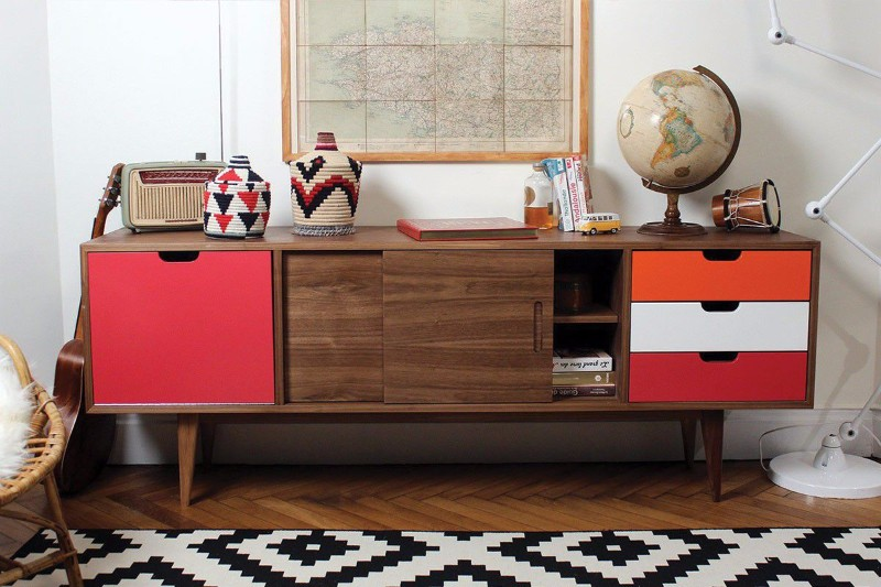 Wood Matched With Warm Colors design trends Sideboard Design Trends For This Fall/Winter Sideboard Design Trends For This FallWinter 4