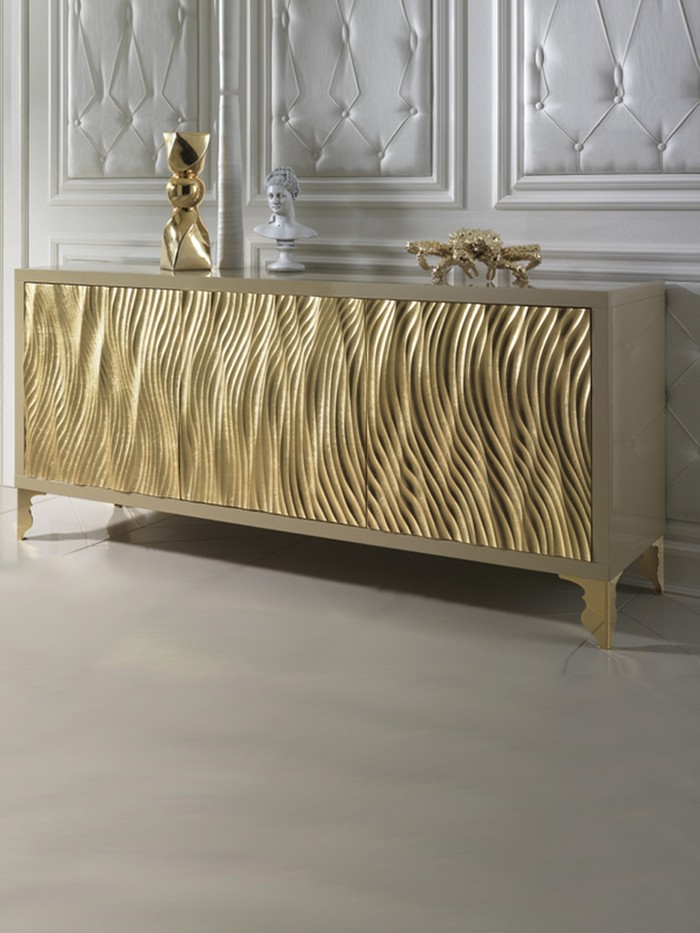 Gold buffets and cabinets for luxury interiors for Sideboard wohnzimmer design