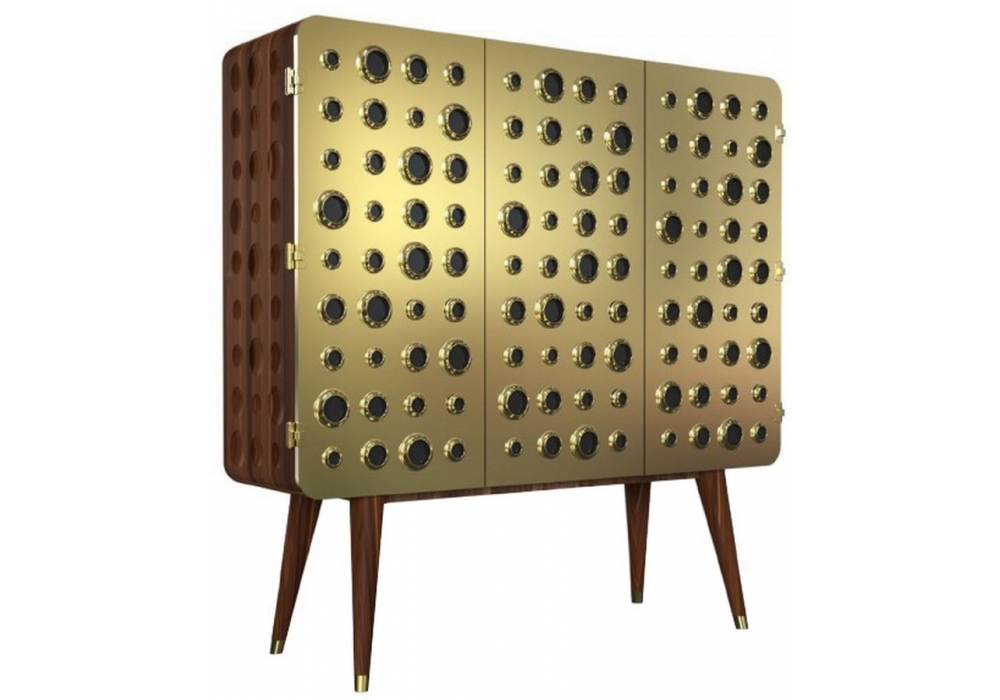 Monocles Cabinet by Delightfull mid century Essential Home Brings Back to Life Mid Century Furniture in Style Monocles Cabinet by Delightfull 4