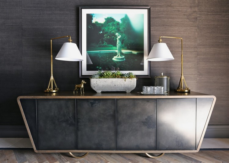 How to Display Artwork in Your Modern Sideboard  Sideboard How to Display Artwork in Your Modern Sideboard Summer Thornton French Tudor Country Club Buffet 1