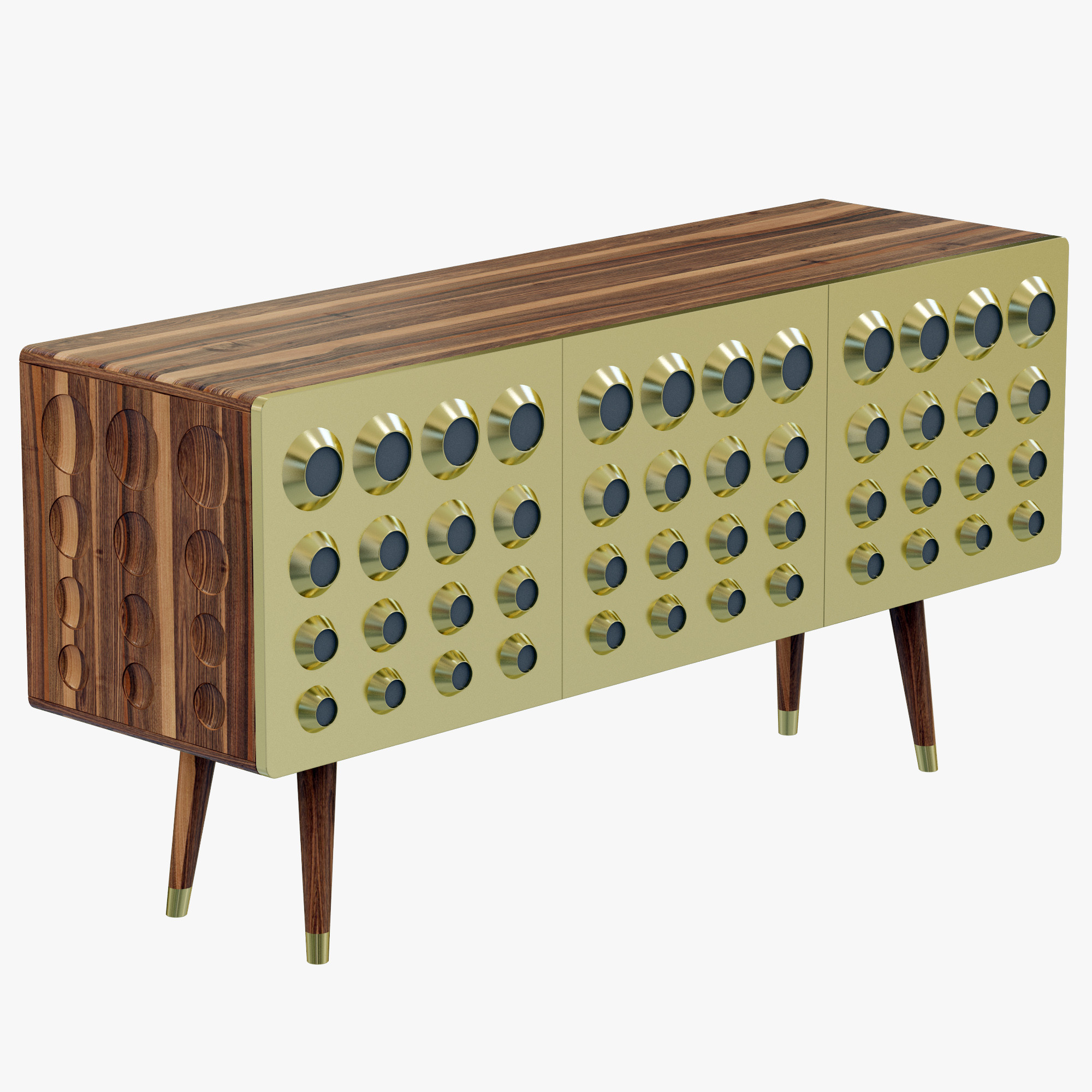 Monocles sideboard by Delightfull (5) mid century Essential Home Brings Back to Life Mid Century Furniture in Style delightfullMONOCLESSIDEBOARD2