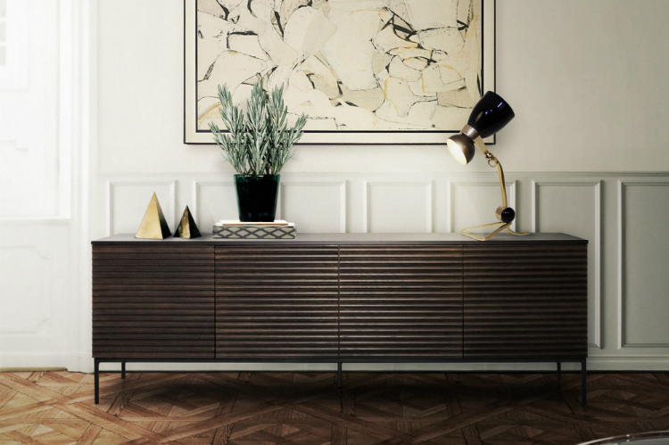 how to display artwork in your modern sideboard. Black Bedroom Furniture Sets. Home Design Ideas