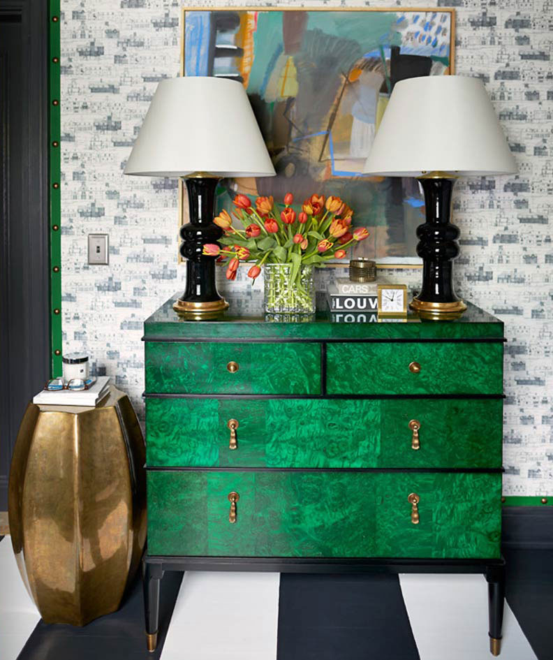 How to Display Artwork in Your Modern Sideboard  Sideboard How to Display Artwork in Your Modern Sideboard Spring Trends Green Emerald Buffets and Cabinets 13