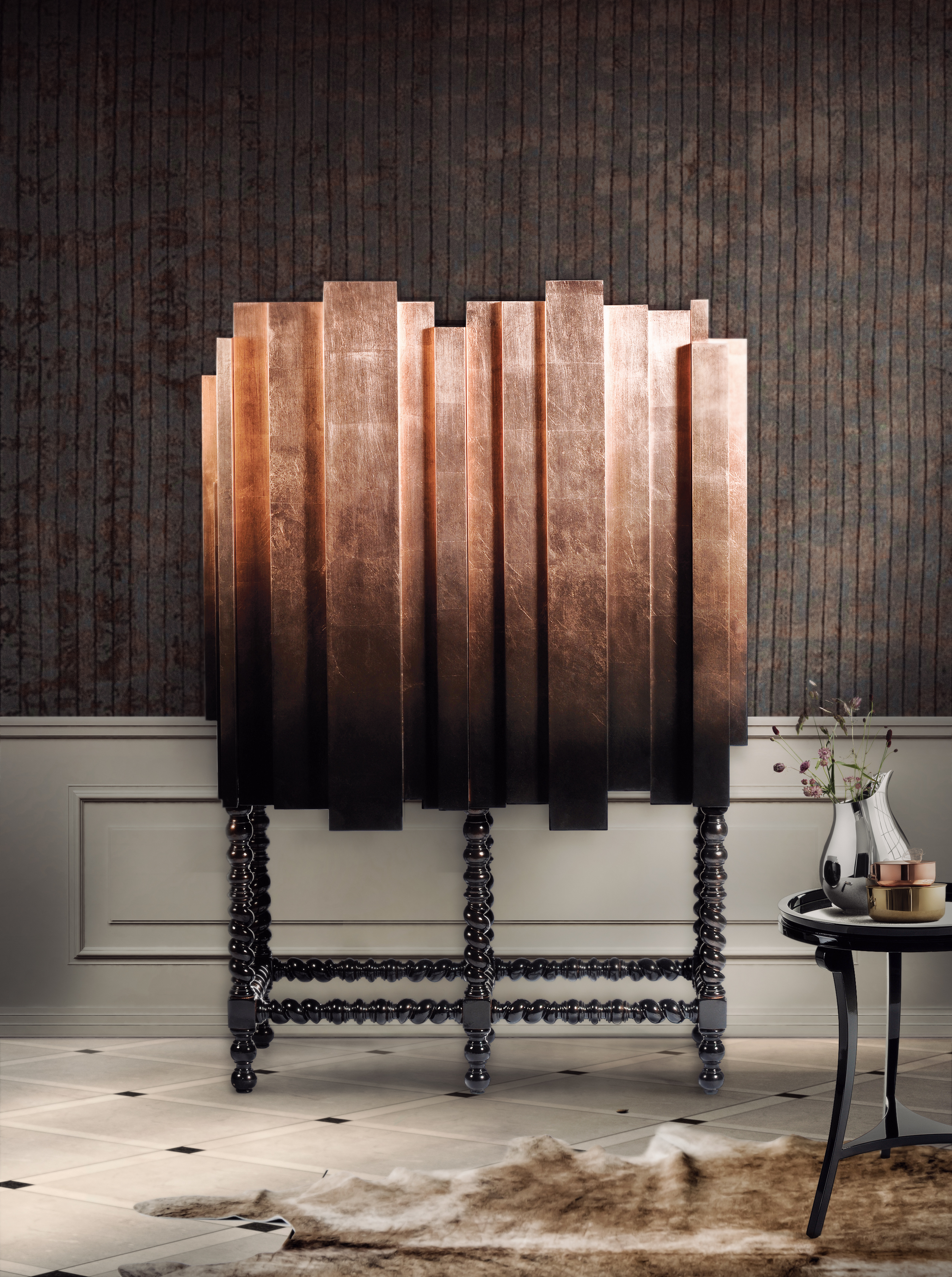 Luxury Bar Cabinets for Exclusive Interiors
