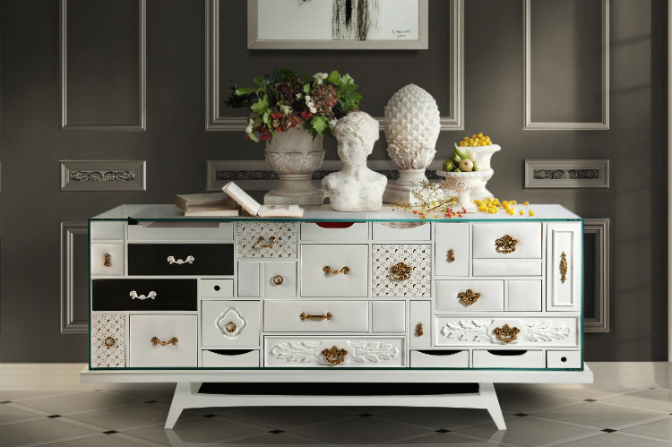 Mondrian Buffet by Boca do Lobo Buffets and Cabinets 3 Tips to Organize Buffets and Cabinets You'll Need For Sure! mondrian white 1