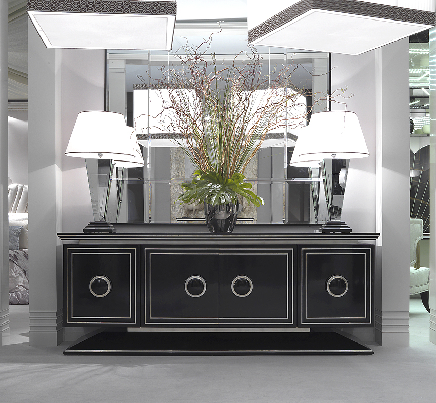 85 art deco dining room buffet a black and silver art deco stylised sideboard of. Black Bedroom Furniture Sets. Home Design Ideas