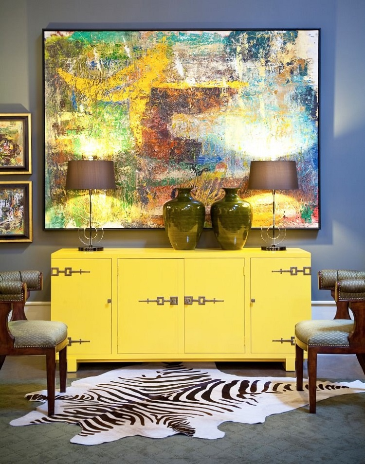 How To Decorate With Yellow Accents Using Buffets And Cabinets (3) Yellow accents How To Decorate With Yellow Accents Using Buffets And Cabinets How To Decorate With Yellow Accents Using Buffets And Cabinets 3
