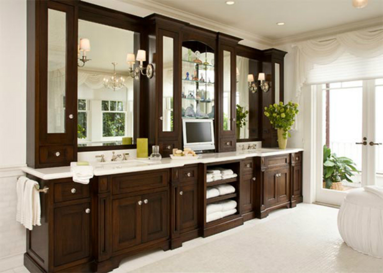 bathroom cabinets 7 Relaxing Wooden Bathroom Cabinets 15 santa barbara
