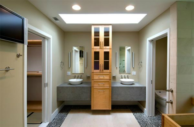 Bathroom Cabinets 17-wood bathroom cabinets 7 Relaxing Wooden Bathroom Cabinets 17 wood