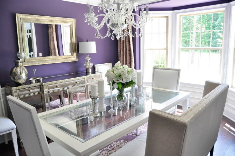 silver buffets and cabinets for your luxury dining room - Silver Dining Room Interior