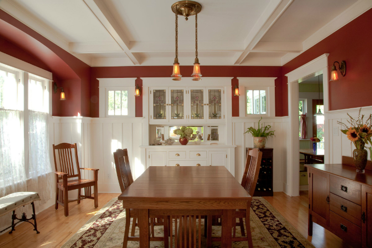 Simple Dining Room Color Ideas: Built In Buffets To Class Up Your Dining Room Style