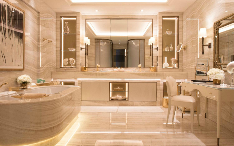 Incredible Hotel Luxury Bathroom Cabinets