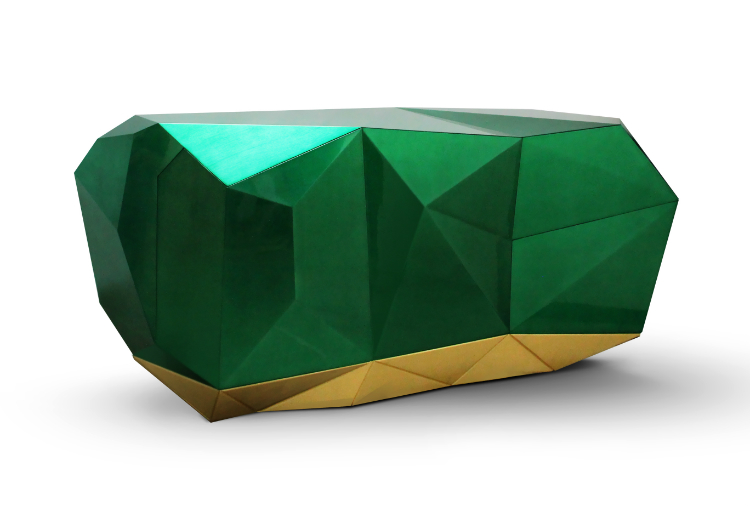 Diamond Emerald Sideboard diamond_emerald_02 Diamond Emerald Sideboard Meet the Stunning Diamond Emerald Sideboard By Boca do Lobo diamond emerald 02