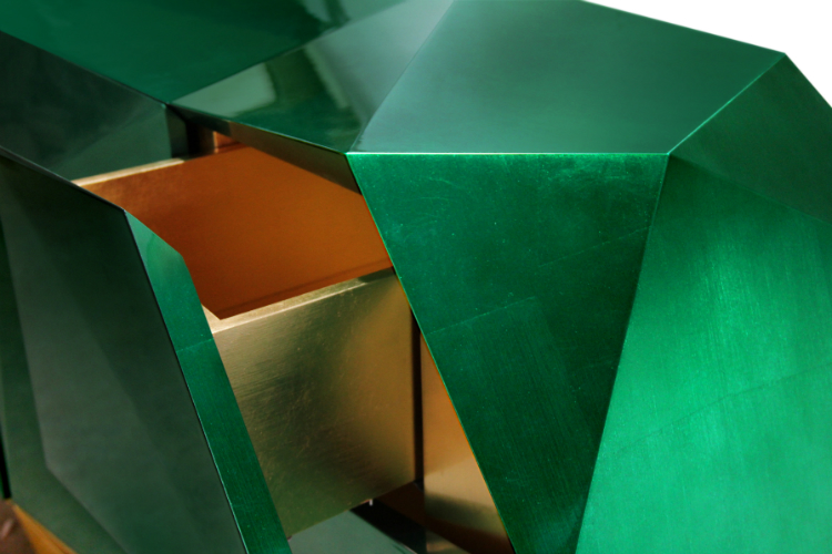 diamond_emerald_04 Diamond Emerald Sideboard Meet the Stunning Diamond Emerald Sideboard By Boca do Lobo diamond emerald 04