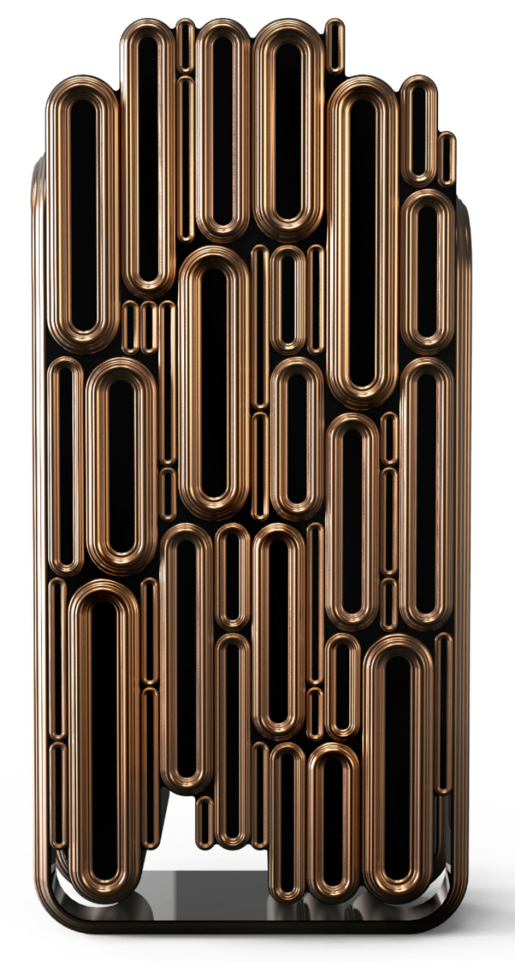 Creative Metal Bar Cabinet Design by Boca do Lobo bar cabinet Creative Metal Bar Cabinet Design by Boca do Lobo Oblong1