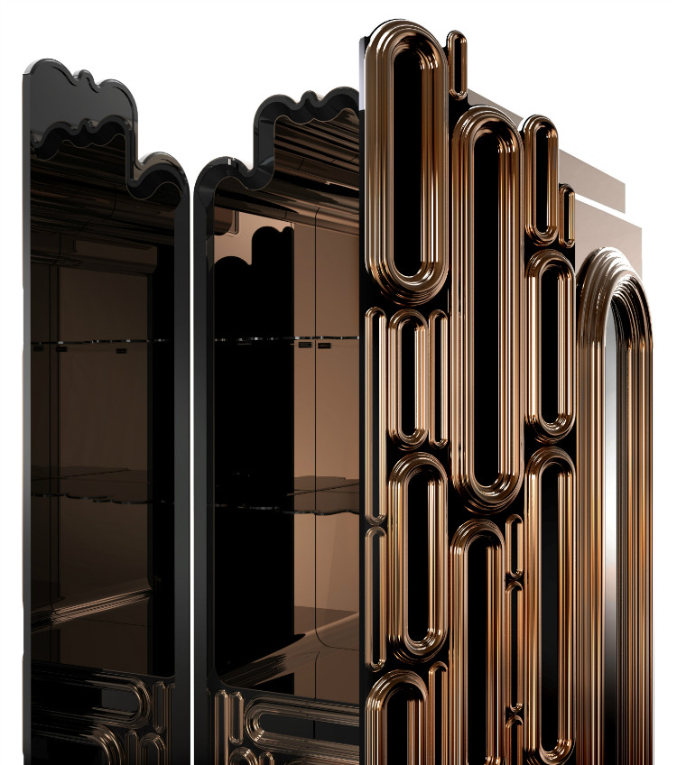 Creative Metal Bar Cabinet Design by Boca do Lobo bar cabinet Creative Metal Bar Cabinet Design by Boca do Lobo Oblong4 1