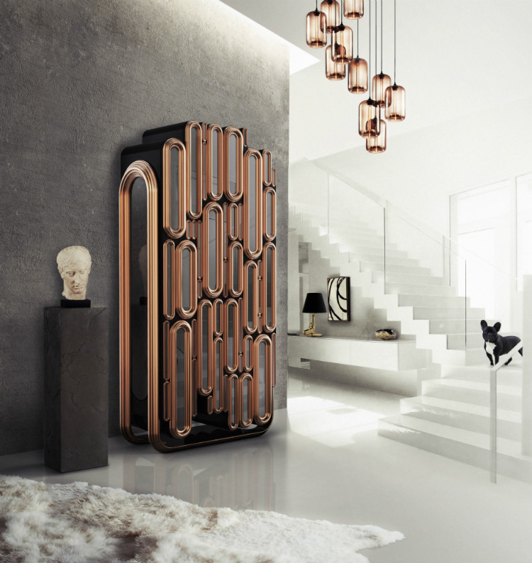 Creative Metal Bar Cabinet Design by Boca do Lobo