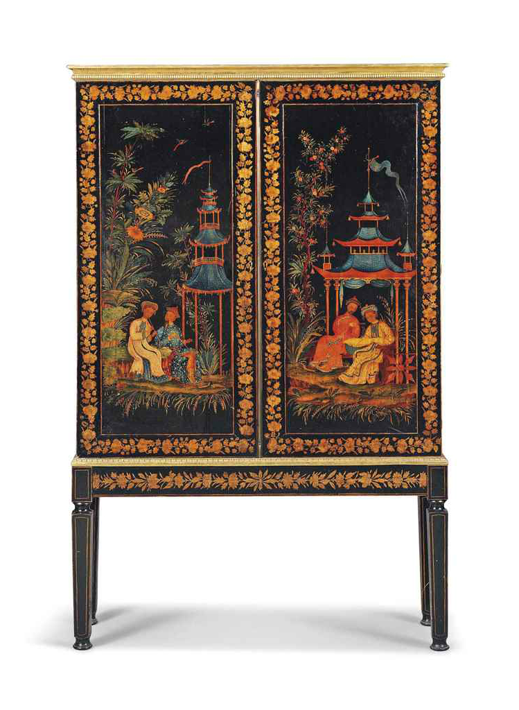 a_regency_polychrome_painted_and_penwork_cabinet-on-stand_first_quarte_d6036951g buffets and cabinets Best Buffets And Cabinets Ever Auctioned By Christie's a regency polychrome painted and penwork cabinet on stand first quarte d6036951g