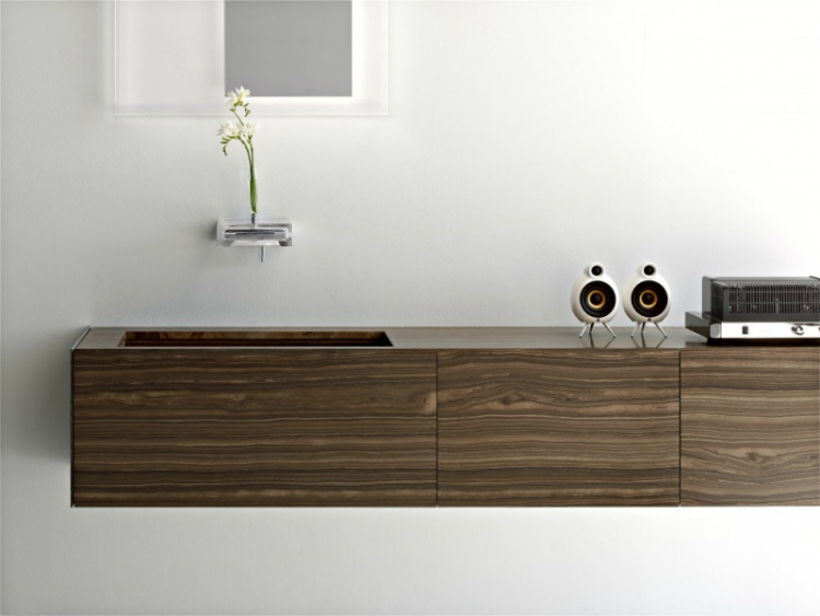 2-walnut-vanity luxury bathroom Perfect Italian Luxury Bathroom Cabinet Design 2 Walnut vanity
