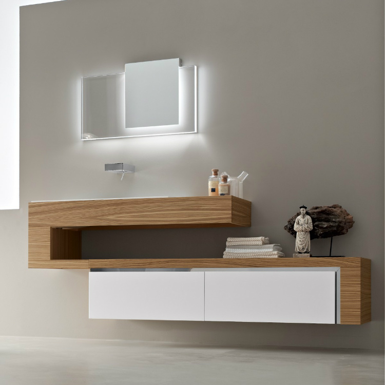 9-wood-white-vanity-unit luxury bathroom Perfect Italian Luxury Bathroom Cabinet Design 9 wood white vanity unit