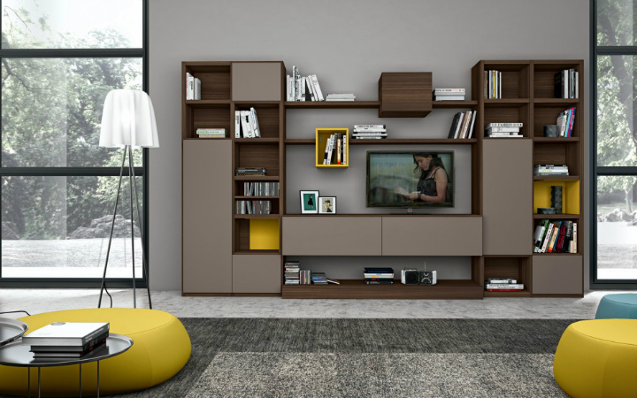 living-room-bookshelves-10 wall cabinets 10 Stunning Living Room Wall Cabinets For Contemporary Homes Living Room Bookshelves 10