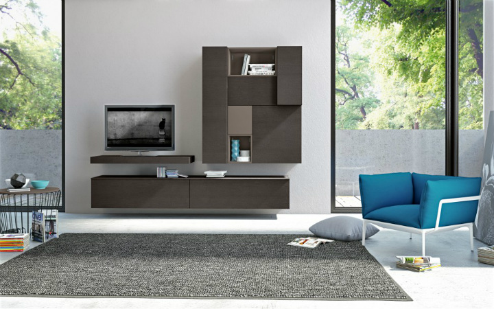 living-room-bookshelves-2 wall cabinets 10 Stunning Living Room Wall Cabinets For Contemporary Homes Living Room Bookshelves 2