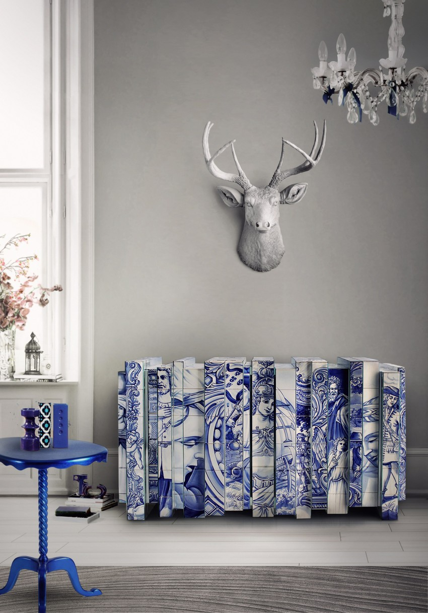 Blue Buffet Buffets and Cabinets Colorful Buffets and Cabinets for a Joyful Interior Design HERITAGE SIDEBOARD Exclusive Furniture Boca do Lobo 69557 rel6bc0f8d9