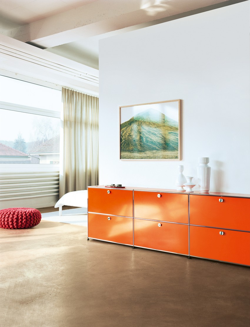 Orange Buffets and Cabinets
