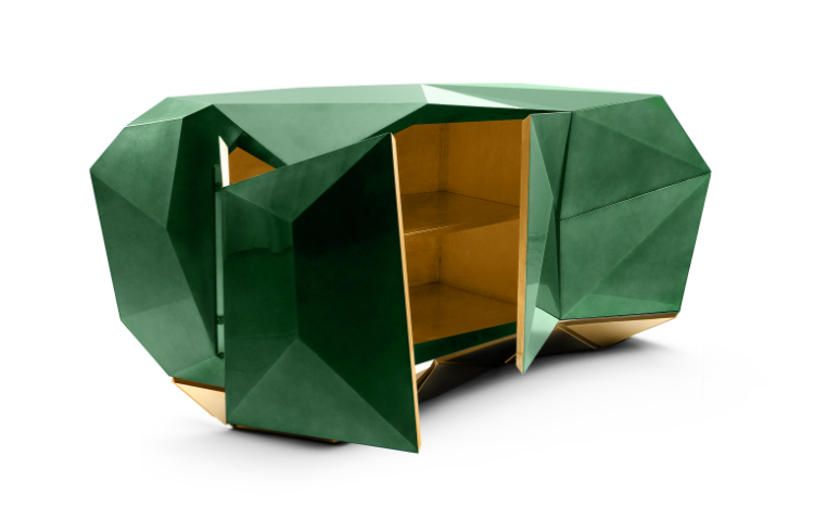 Boca do Lobo Brendan Wong Brendan Wong's Choices of Buffets and Cabinets diamond emerald 01