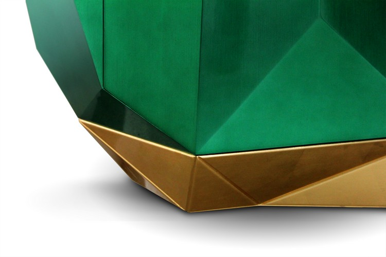 Diamond Emerald Sideboard By Boca do Lobo buffets and cabinets Futurist Home Decor with Shiny Buffets and Cabinets diamond emerald 05