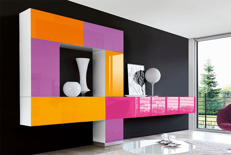 Colorful Buffets and Cabinets Buffets and Cabinets Colorful Buffets and Cabinets for a Joyful Interior Design low profile wall unit with cabinet