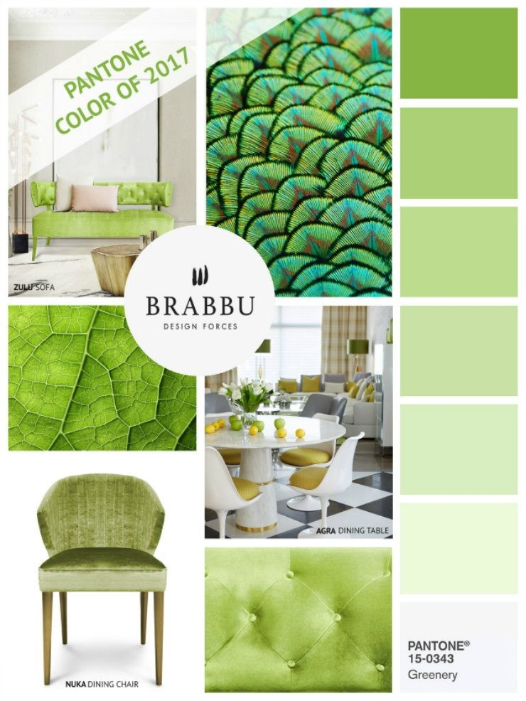 Spring Pantone's Greenery Welcome Spring with Exquisite Buffets 1 Amazing Mood Boards greenery  1
