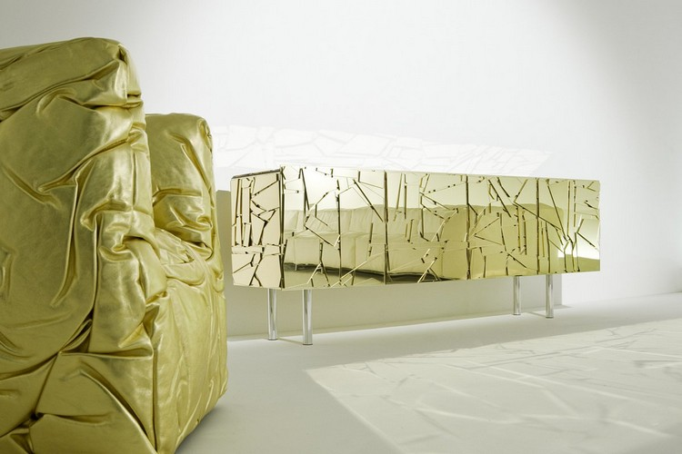 Golden Buffets Golden Buffets for a sophisticated Interior Design Scrigno3