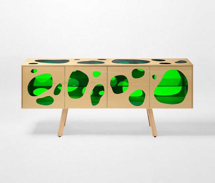 Spring Pantone's Greenery Welcome Spring with Exquisite Buffets aquario cabinet campana 01 b