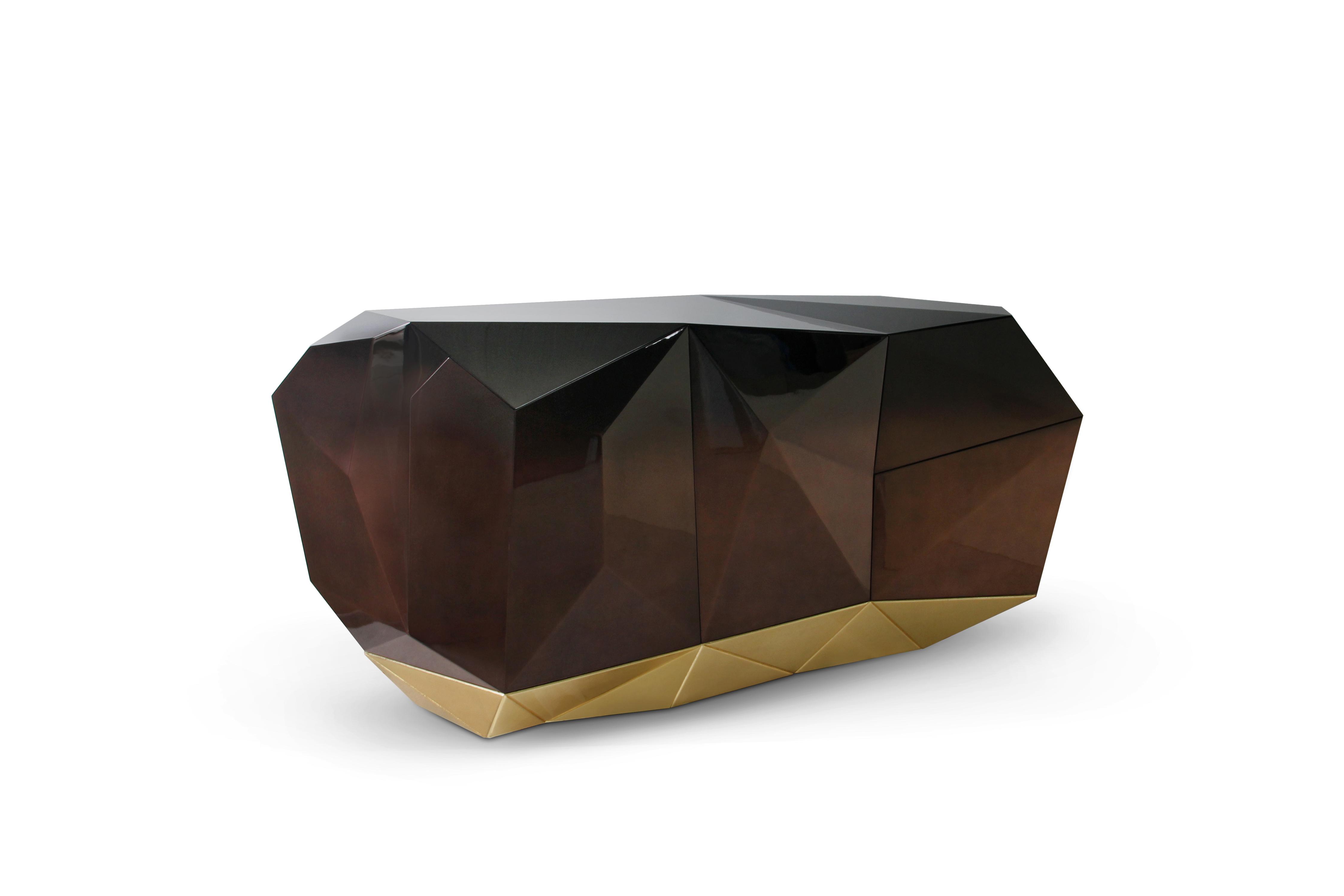 creative buffets Get to know Creative Buffets by Boca do Lobo diamond chocolate sideboard boca do lobo 01