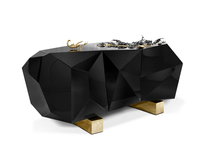 black buffets and cabinets Black Buffets and Cabinets for a modern Home Decor diamond metamorphosis 01