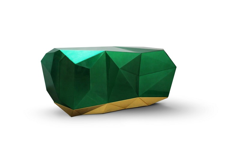 buffets and cabinets Buffets and Cabinets inspired in Brabbu's Moodboards diamond emerald 02