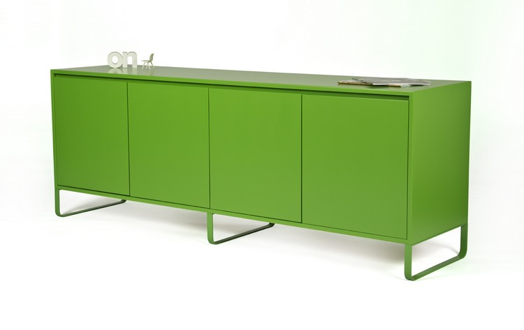 Celebrate St. Patrick's Day with Pantone Greenery St. Patrick's Day Celebrate St. Patrick's Day with Pantone Greenery sideboard green lacquer side low copy