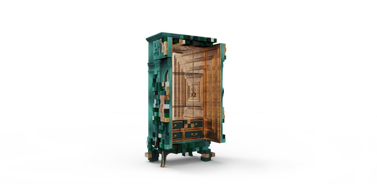 cabinet design Piccadilly Cabinet Design: a futurism design piccadilly ecletic green cabinet boca do lobo 04