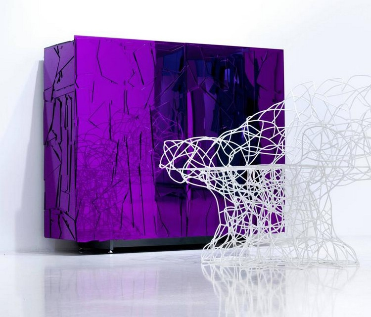 Cabinet Design Striking Methacrylate Cabinet Design by Edra Scrigno Scrigno 04 b l