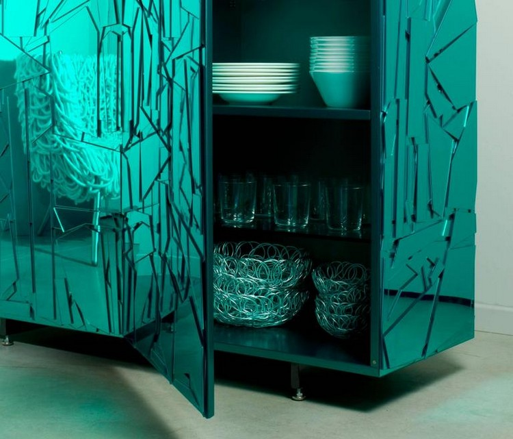 Striking Methacrylate Cabinet Design by Edra Scrigno