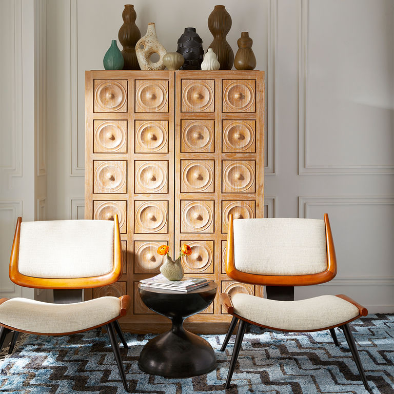 Discover Jonathan Adler's Favourite Buffets and Cabinets  Discover Jonathan Adler's Favourite Buffets and Cabinets Web JA Spring17 Antwerp Cabinet Antibes Accent Chairs