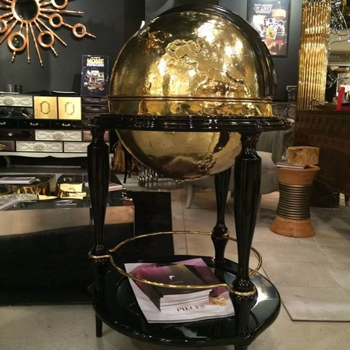 boca do lobo Breathtaking Globe Bar Cabinet by Boca do Lobo equator boca do lobo