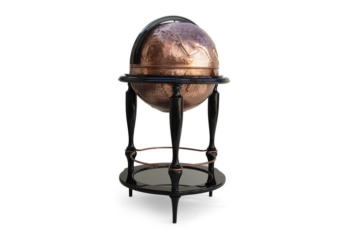 boca do lobo Breathtaking Globe Bar Cabinet by Boca do Lobo equator 06