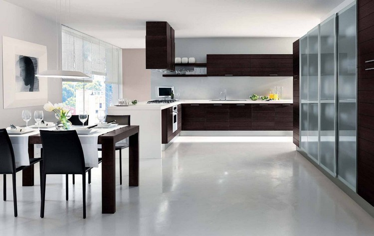 modern kitchens 10 Modern Kitchens with Futuristic Cabinets Kitchens with Futuristic Cabinets 1