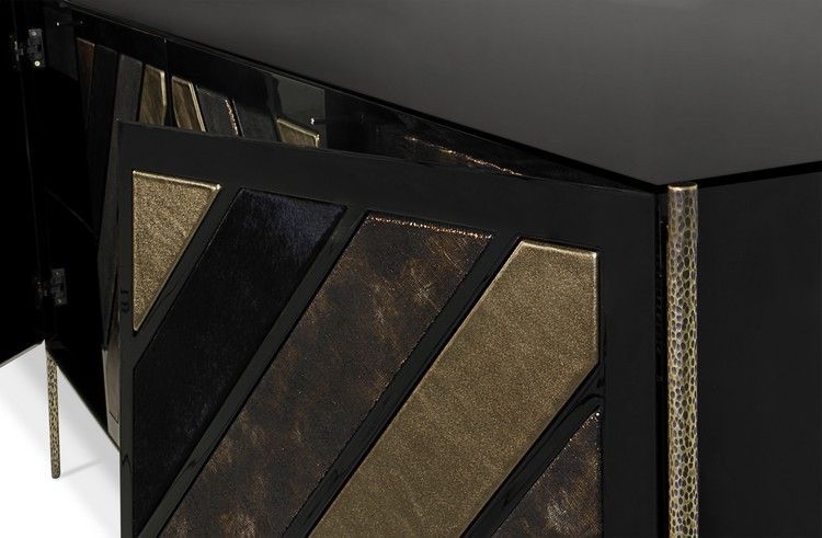 Luxury Gold and Black Buffets and Cabinets for Modern Interiors modern interiors Luxury Gold and Black Buffets and Cabinets for Modern Interiors opium cabinet 3