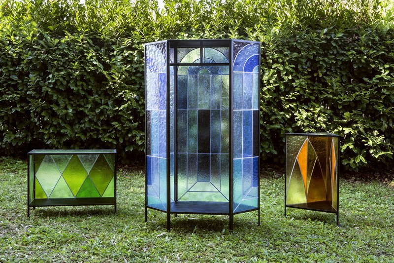 glass cabinet glass cabinet Cathedral Glass Cabinet By Antonio Aricò Cathedral Glass Cabinet By Antonio Arico  2